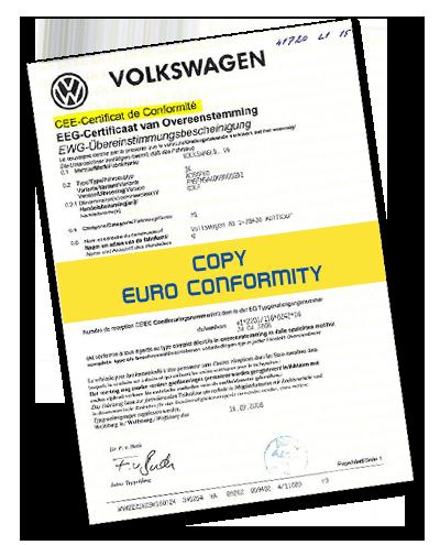 Wir stellen das Europäische Konformitätszertifikat für die folgenden Auto- und Motorradmarken aus
