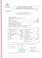 Citroen EG-Übereinstimmungsbescheinigung CoC