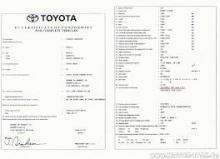 Toyota EG-Übereinstimmungsbescheinigung CoC