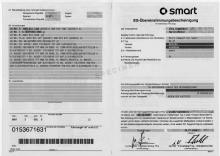 Smart EG-Übereinstimmungsbescheinigung CoC