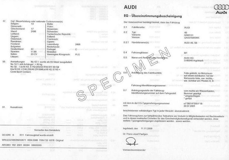 Was ist eine COC-Papier Audi ?